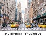 new york   circa december  2016 ... | Shutterstock . vector #546838501