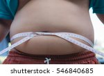 fat boy with overweight | Shutterstock . vector #546840685