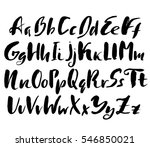 hand drawn font made by dry... | Shutterstock .eps vector #546850021