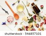 herbal cosmetic ingredients top ... | Shutterstock . vector #546857101