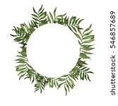 palm leaves frame. greeting... | Shutterstock . vector #546857689