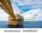offshore construction platform...   Shutterstock . vector #546858337