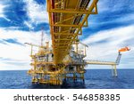 offshore construction platform... | Shutterstock . vector #546858385