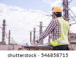 construction workers... | Shutterstock . vector #546858715