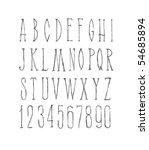 hand drawn alphabet. vector... | Shutterstock .eps vector #54685894