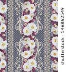 flower border  pattern ...   Shutterstock . vector #546862549