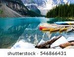 beautiful moraine lake in banff ... | Shutterstock . vector #546866431