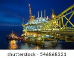 offshore oil and gas central... | Shutterstock . vector #546868321