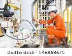 mechanical engineer checking... | Shutterstock . vector #546868675