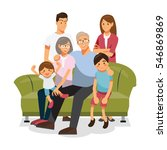 family together on the sofa | Shutterstock .eps vector #546869869