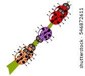 ladybug on leaf | Shutterstock .eps vector #546872611