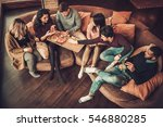 group of multi ethnic young... | Shutterstock . vector #546880285