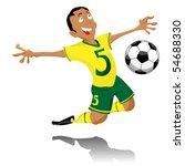 black soccer player celebrating ... | Shutterstock . vector #54688330