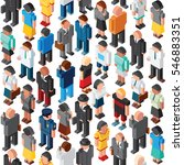 3d people crowd seamless vector ... | Shutterstock .eps vector #546883351