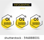 yellow linear infographic... | Shutterstock .eps vector #546888031