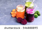 vegetables smoothies carrot...   Shutterstock . vector #546888895
