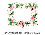 round frame made of pink and...   Shutterstock . vector #546894121