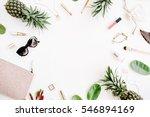 summer street style. frame of... | Shutterstock . vector #546894169
