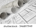 architectural project | Shutterstock . vector #546897949