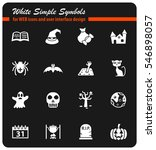 halloween white simple symbols... | Shutterstock .eps vector #546898057