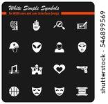 cinema genre white simple... | Shutterstock .eps vector #546899569