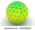 beautiful three dimensional... | Shutterstock . vector #54690826