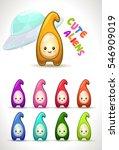 cute colorful cartoon aliens....