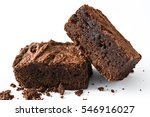chocolate brownie pieces... | Shutterstock . vector #546916027