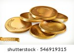 golden coins. money 3d vector... | Shutterstock .eps vector #546919315
