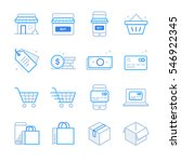 e commerce and shopping icons... | Shutterstock .eps vector #546922345