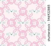 vector seamless patterns. red... | Shutterstock .eps vector #546922885