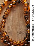 amber necklace on wooden...   Shutterstock . vector #546923305