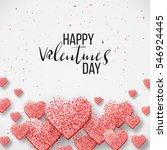 luxury elegant happy valentine... | Shutterstock .eps vector #546924445