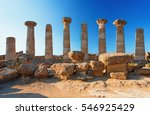 the temple of heracles in the... | Shutterstock . vector #546925429