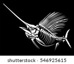 marlin skeleth vector... | Shutterstock .eps vector #546925615