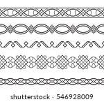 set of black ornate borders.... | Shutterstock .eps vector #546928009