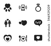 set of 9 editable heart icons....