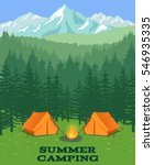 forest camping vector... | Shutterstock .eps vector #546935335
