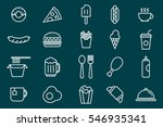 fast food  icon minimal icons... | Shutterstock .eps vector #546935341