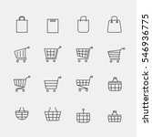 vector store bags signs or... | Shutterstock .eps vector #546936775