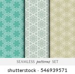 set of seamless geometric line... | Shutterstock .eps vector #546939571