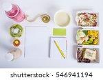 healthy nutrition plan. fresh...   Shutterstock . vector #546941194
