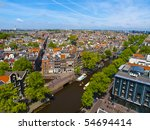Aerial View Of Amsterdam City...