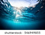 underwater shot of the sea... | Shutterstock . vector #546949855