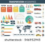 transportation infographics set.... | Shutterstock .eps vector #546952945