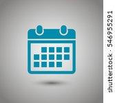 calendar icon  | Shutterstock .eps vector #546955291