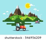 flat design vector landscape... | Shutterstock .eps vector #546956209