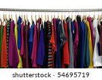 fashion clothing rack display | Shutterstock . vector #54695719