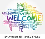 welcome word cloud in different ... | Shutterstock .eps vector #546957661