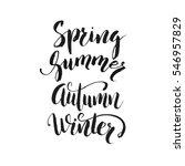 handwritten calligraphy with... | Shutterstock .eps vector #546957829